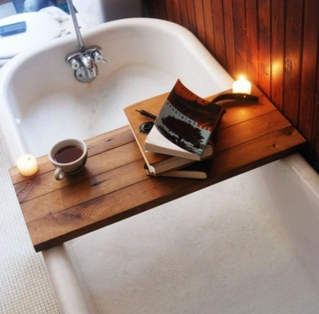 Taking A Bath With Bath Reading Tray