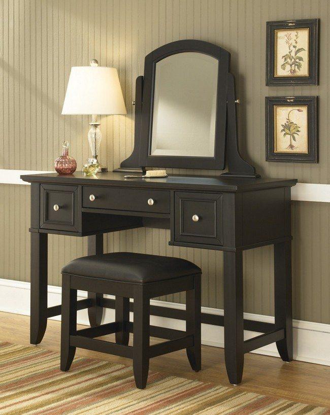 Merveilleux Black Bedroom Vanity Set