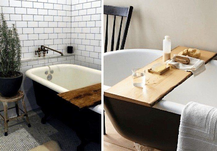 Taking a bath with bath reading tray - Decor Around The World