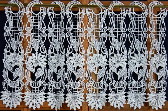 macrame curtains brise bise