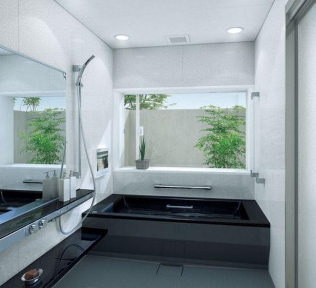 small-bathroom-modern-black-corner-bath