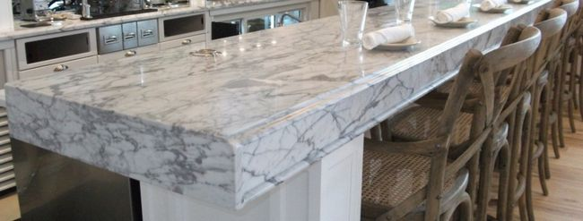 Carrera Marble Countertop A White Cabinet Soft Close Drawers And