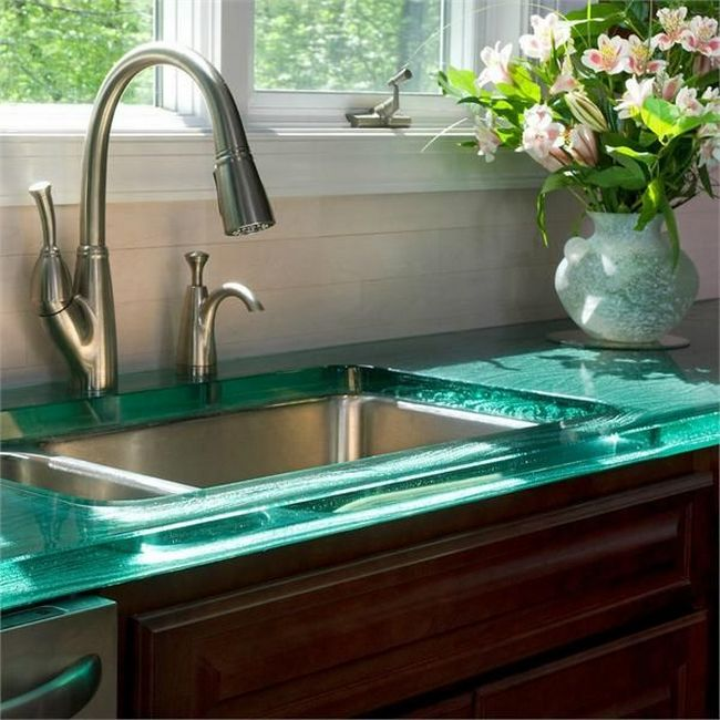 Black Glass Kitchen Countertops: Glass Countertops: At The Top Of Elegance