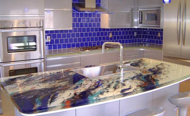 Kitchen-Glass Countertops