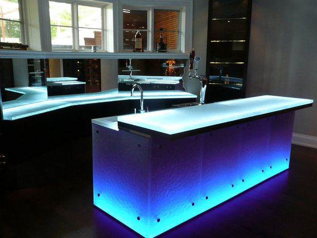 Glass Countertops At The Top Of Elegance Decor Around