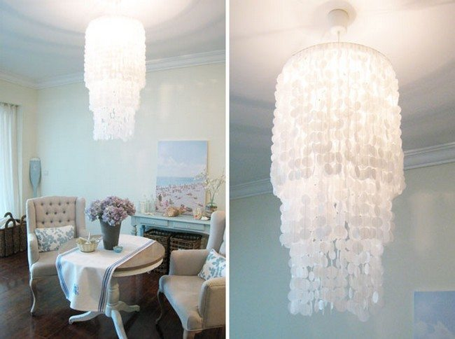 chandelier seperately and view in the room