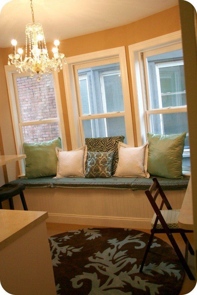 green white pillows cushion