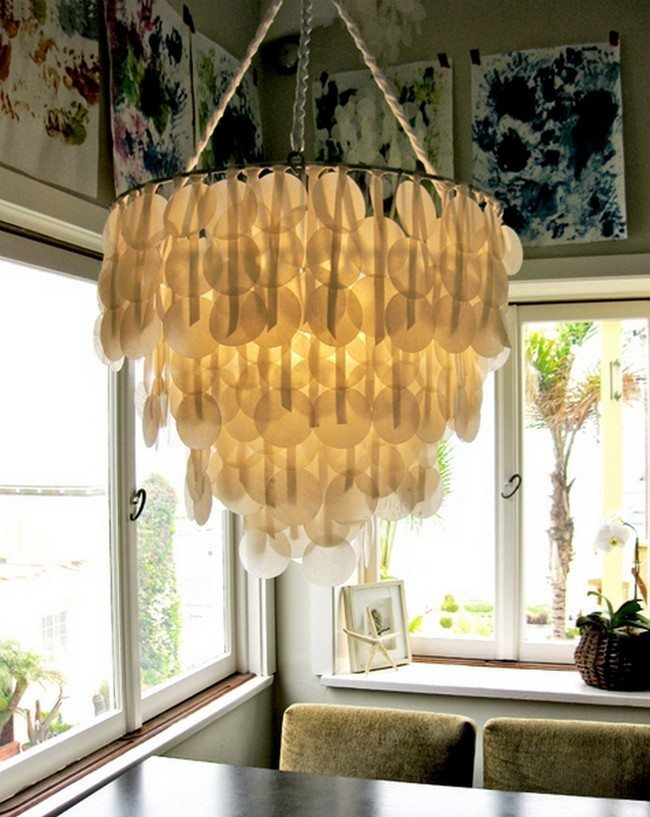 paper made example of hand made chandelier