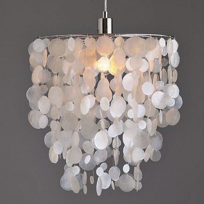How Enter Light Into Your Rooms Diy Capiz Shell Chandelier Decor Around The World