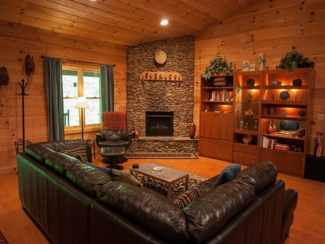 Log cabin decorating ideas decor around the world for Interior designs for log cabins