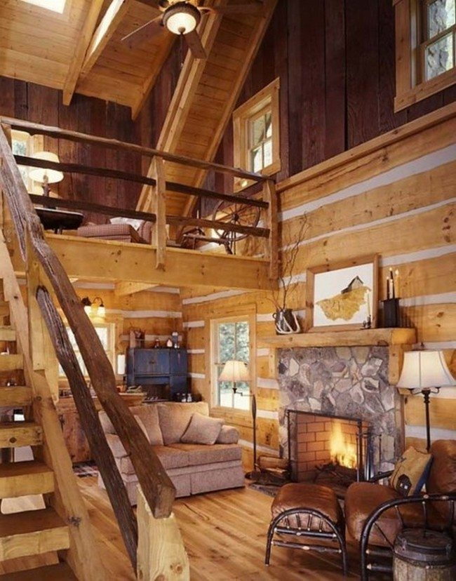 Log cabin decorating ideas decor around the world - Interior pictures of small log cabins ...