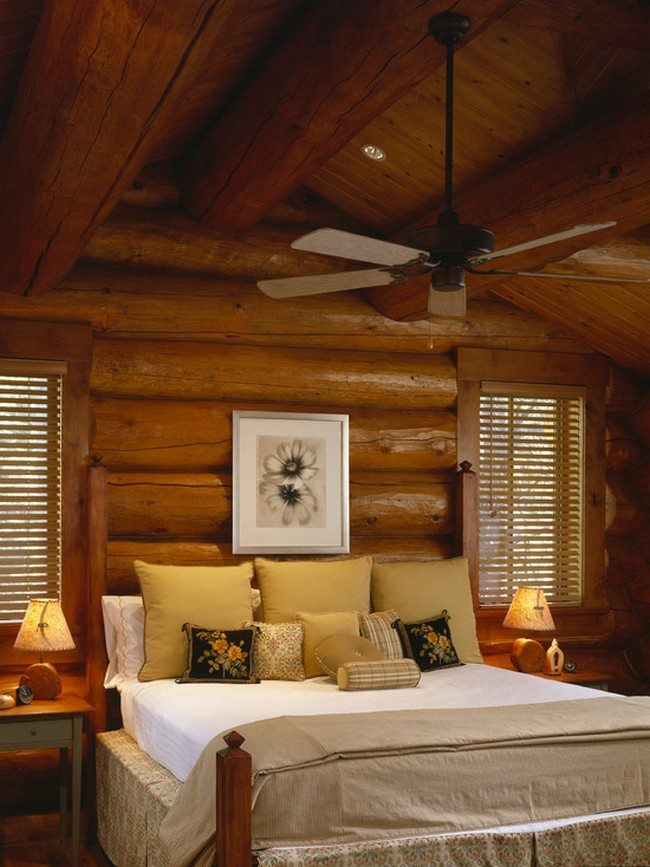 Log cabin decorating ideas decor around the world for Small cabin interiors photos