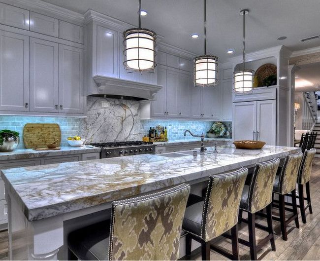 Porcelain slab countertops: light and durable - Decor