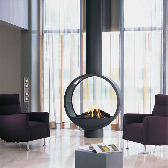 Suspended fireplace as a center of attraction - Decor ...