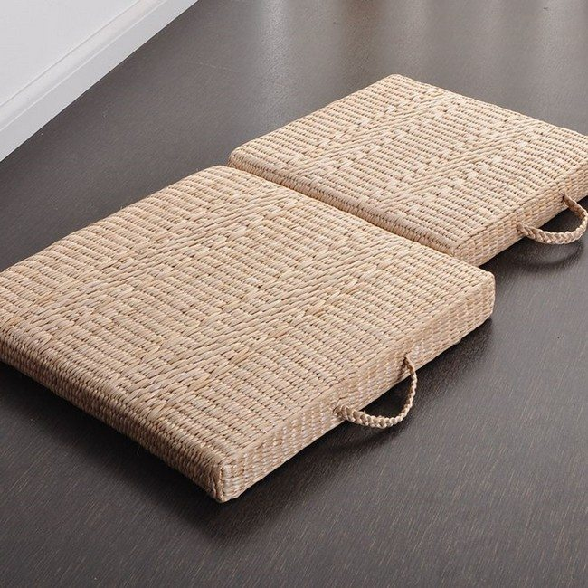 small japanese tatami cushion zabuton