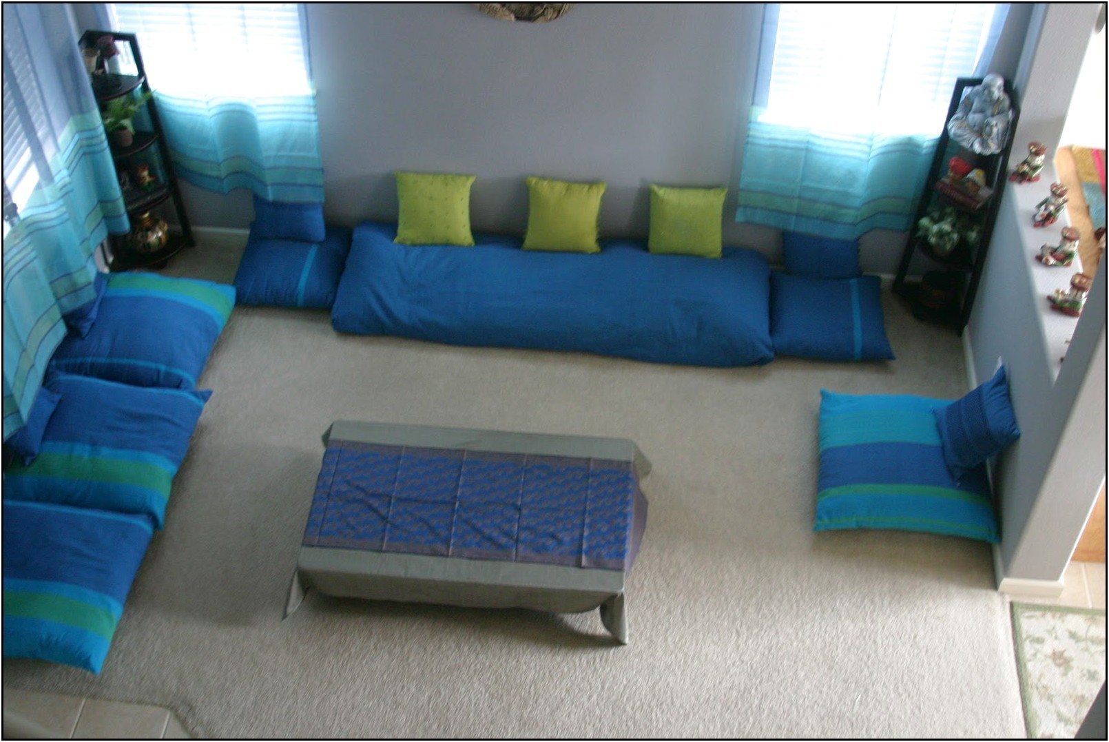 Floor Seating Arrangement Living Room