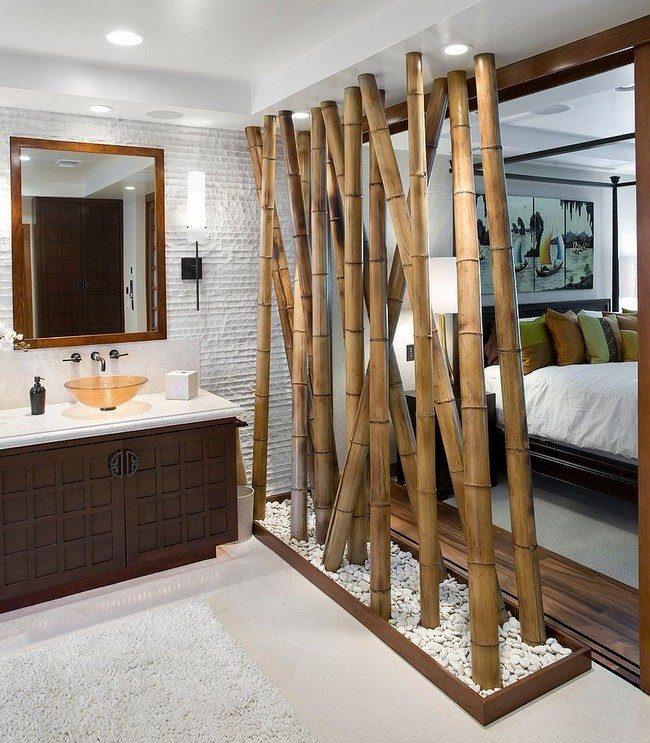 bathromm and bedroom bamboo walls