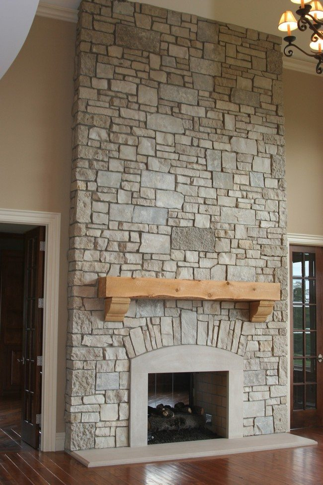 Rock fireplaces in the house decor around the world Corner rock fireplace designs