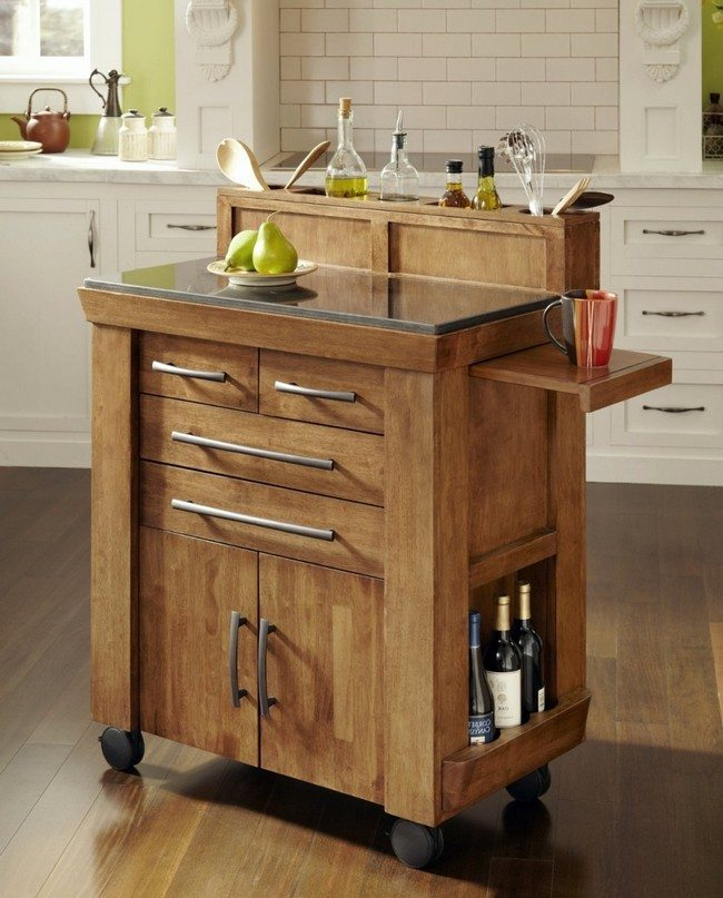 small-kitchen-island table dor the wint witch shelves, surface for the meat