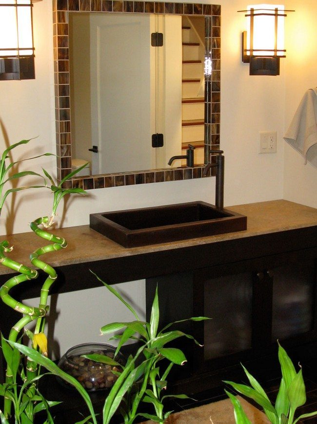 Wonderful tips for your bamboo themed bathroom decor for Bamboo bathroom design