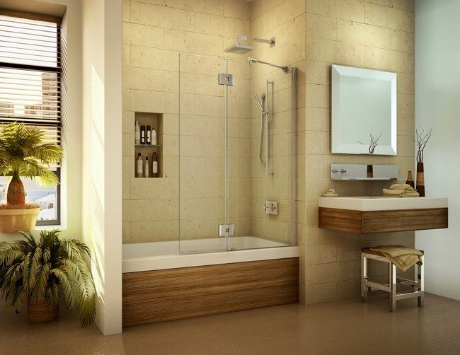 Tropical bathroom ideas create a seashore in your for Small tropical bathroom design