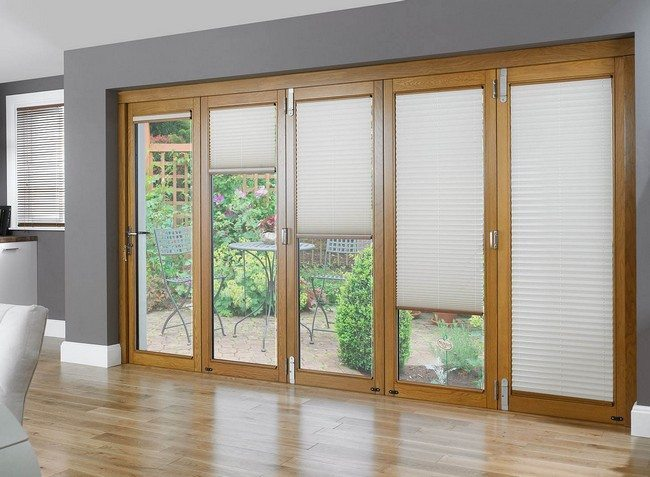 french door curtains as a solid rolled down blinds