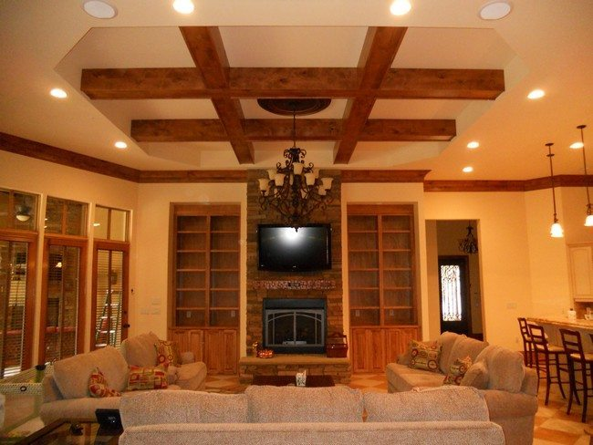 rustic decor ceiling from crossed beams