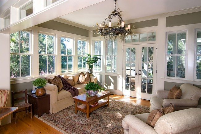 A neatly-arranged living room