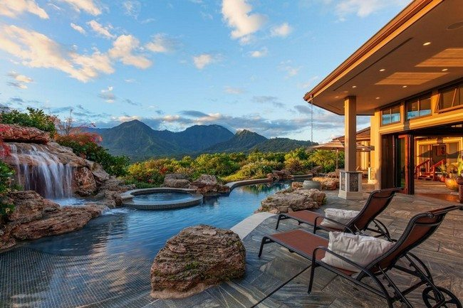 Backyard Landscape Retreats with pool with amazing view of the mountains