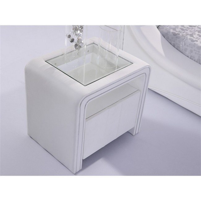 ultramodern hi tec night stand of a white color
