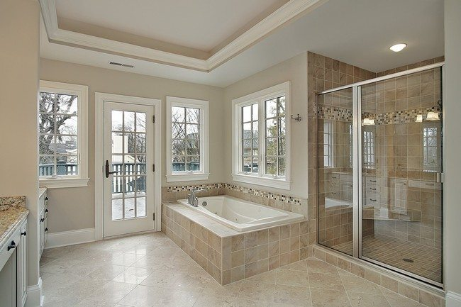 Elegant Bathroom Ideas Bathtube on the first floor with windows