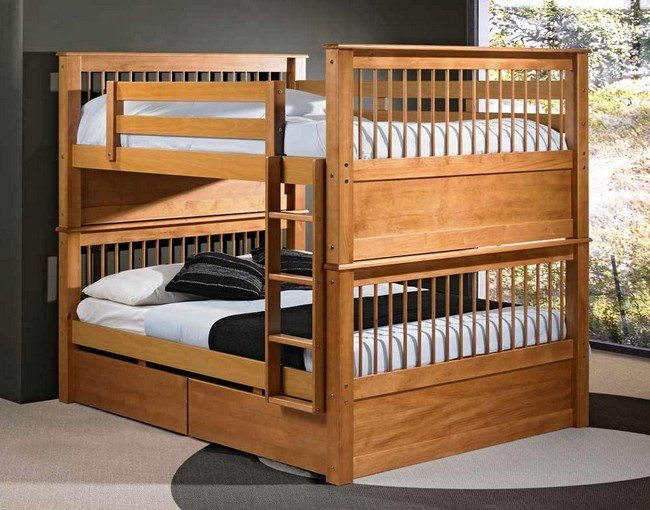 A bedroom with adult bunk bed decor around the world for Etagenbett erwachsene