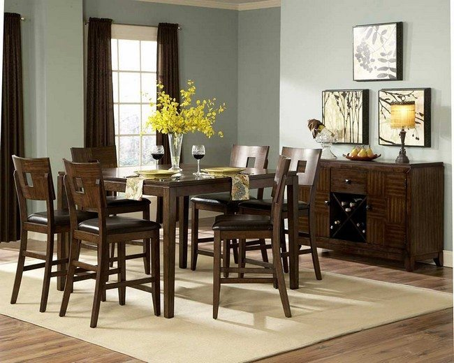 Dining Room Centerpieces Ideas to Make Your Room Live  : dining room diy formal dining room table centerpieces arrangements with square oak dining table and 6 vintage dining chairs with black leather cushion beside wine storage rack dining room from decoratw.com size 650 x 520 jpeg 73kB