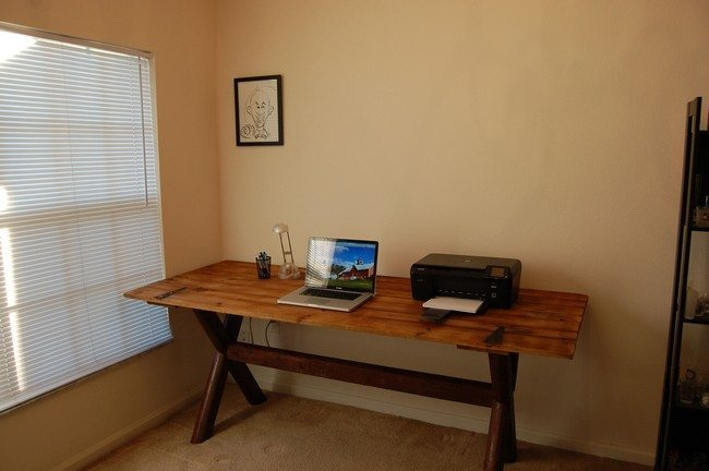 woodne desk for copying and pc