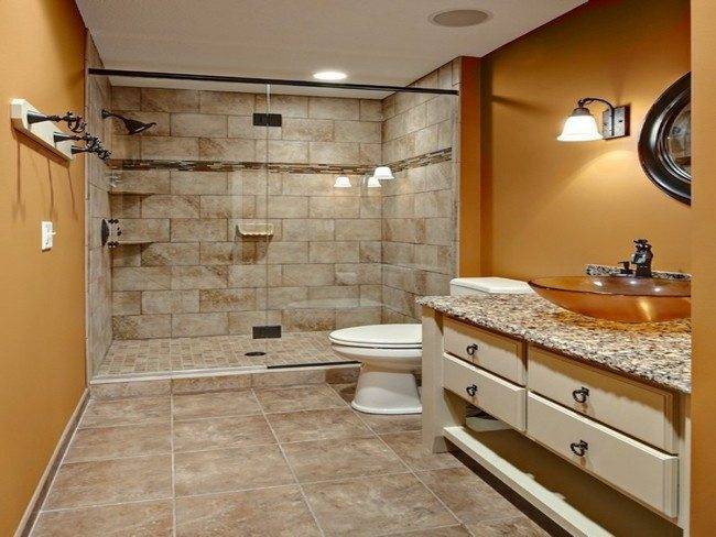 How to make small bathroom bigger - Design Of The Doorless Walk In Shower Decor Around The World