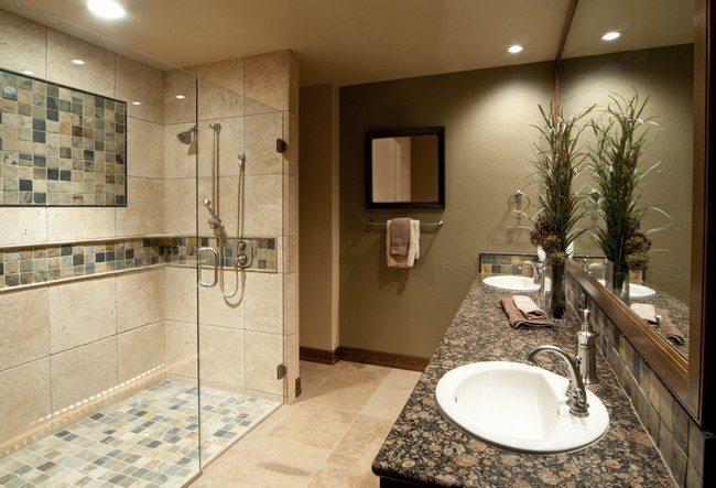 modern style elegance glass in the bathroom