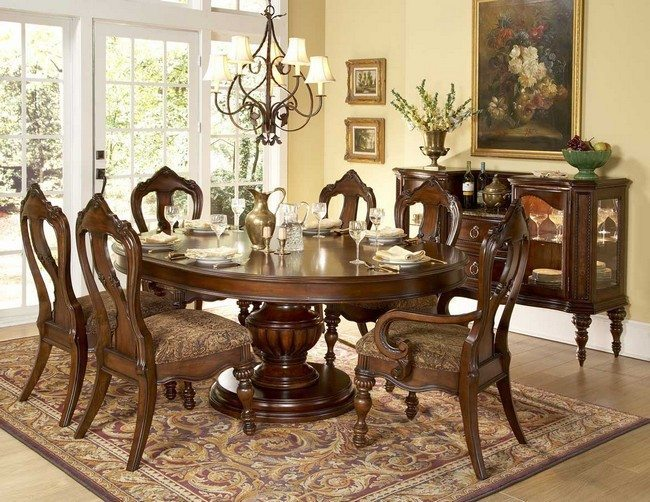 round massive table from oak
