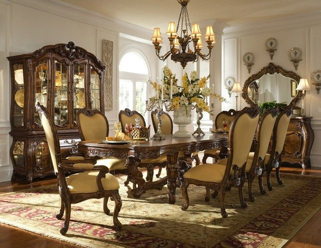Carved Wood Dining Room Set