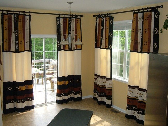 room with the french doors and israel curtains