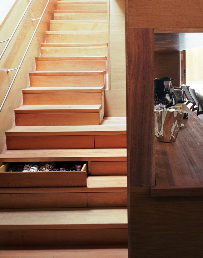 drawers made in every step of stair