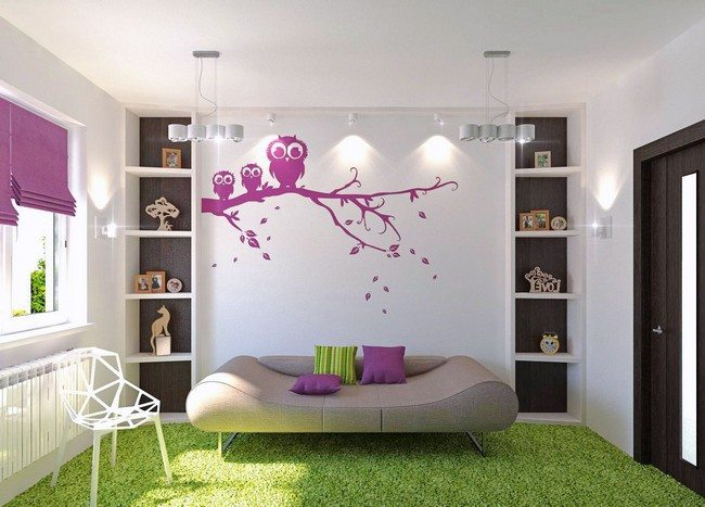 Unique, custom-made furniture in bright setting