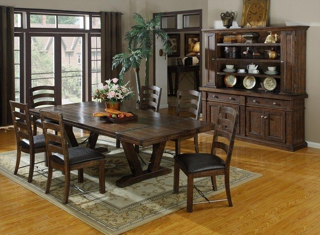 Dark-colored furniture