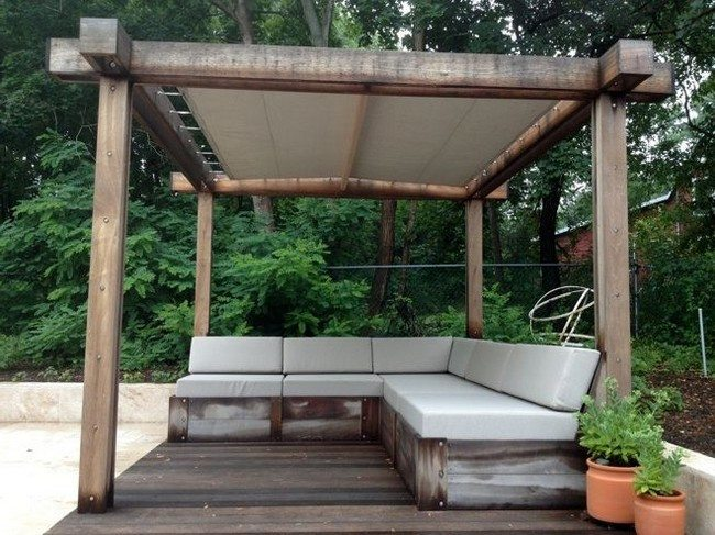 Wood details - Refreshing Modern Pergola Design Ideas - Decor Around The World