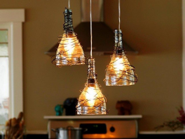 Wine glass lights with wired addition