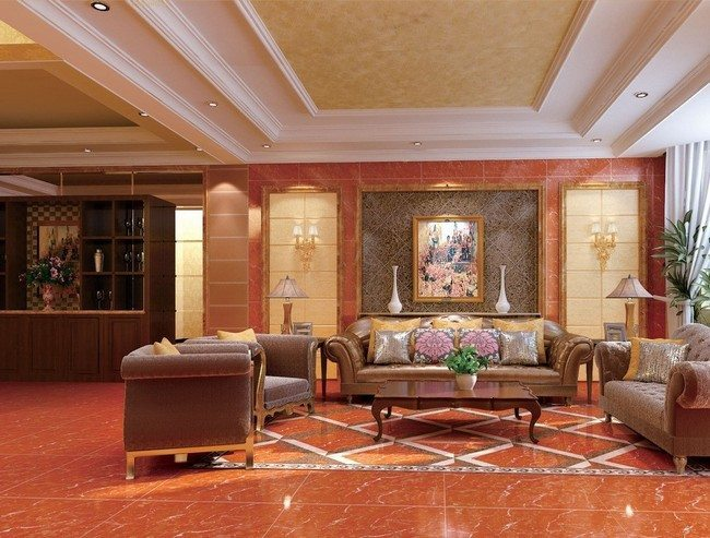 Ceiling designs for your living room decor around the world for Simple false ceiling designs for living room