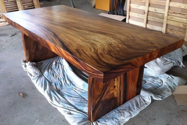 DIY Dining Table Ideas Decor Around The World : Wood Slab Dining Table Ideas from decoratw.com size 650 x 436 jpeg 71kB