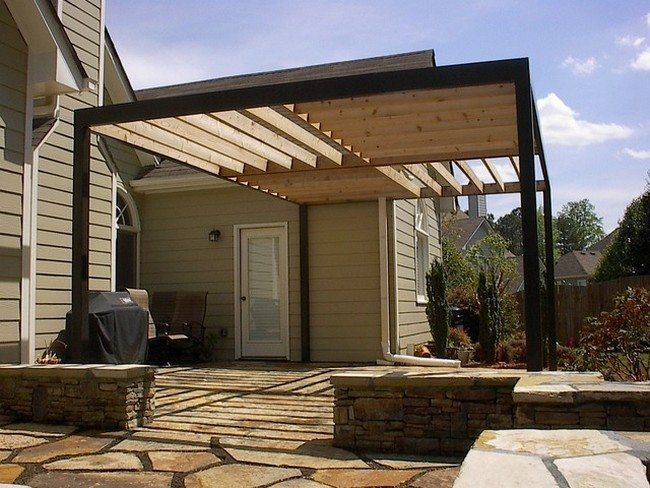 Elegant stone designs - Refreshing Modern Pergola Design Ideas - Decor Around The World