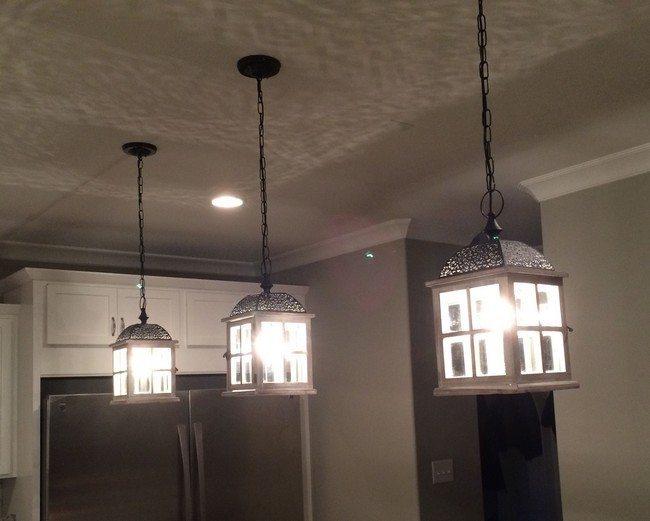 Enclosed hanging lights