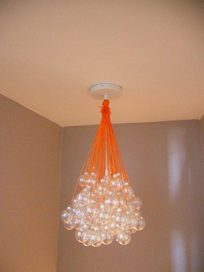 Chandelier-like glass hanging lights