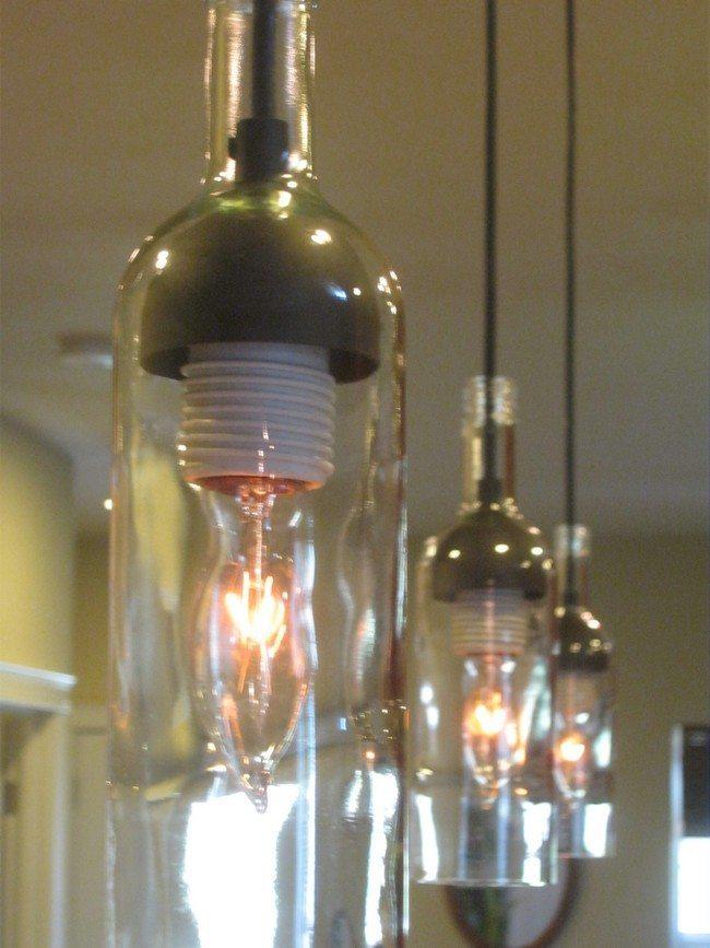 Converted bottle lights